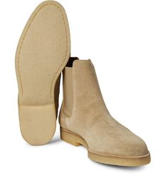 Marrying quality construction and understated style, Common Projects' Chelsea boots will make a considered addition to your footwear roster. They've been expertly crafted in Italy from beige suede and set on hard-wearing rubber-crepe soles for comfort. Team yours with cuffed denim.