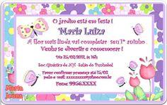 Convite Personalizado - Tema Jardim da Maria Luisa.