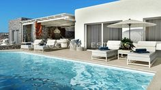 Villa Aida is a spacious villa of exceptional character, ideally located in Agios Ioannis area, with stunning sea and sunset views over the bay, and a privat. Greece Holidays, Luxury Villa Rentals, Mykonos, Luxury Travel, Villas, Sunset, Outdoor Decor, Diy, Home Decor
