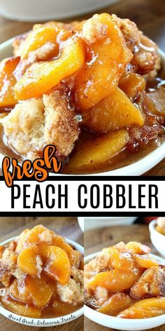 Fresh Peach Cobbler is an easy and delicious, old fashioned, peach cobbler recipe loaded with peaches and a cake-like topping. Good Peach Cobbler Recipe, Homemade Peach Cobbler, Southern Peach Cobbler, Easy Peach Cobbler, Healthy Peach Cobbler, Peach Cobbler Cake, Pillsbury Peach Cobbler Recipe, Georgia Peach Cobbler Recipe, Old Fashioned Peach Cobbler
