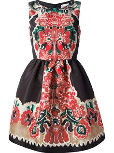 RED VALENTINO - floral flared dress