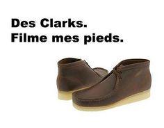 Des Clarks. Filme mes pieds.