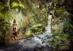 The ancient waterfall on Behance