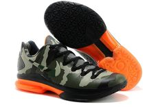 Nike Zoom Kevin Durant's KD V Elite Low Basketball shoes Camouflage/Red