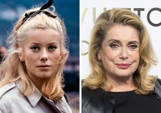 Old Celebrities, Celebrities Then And Now, Celebs, Young Old, Glamour Shots, Stars Then And Now, Cinema Movies, Fashion For Women Over 40, Catherine Deneuve