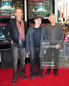 Mike Rutherford, Phil Collins, and Tony Banks of Genesis attend the 'When In Rome 2007' - Genesis DVD Premiere Kensington Odeon on May 20, 2008 in London, England. (Photo by Simon James/WireImage)