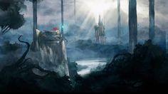 Child of Light Dark Forest Game Wallpaper