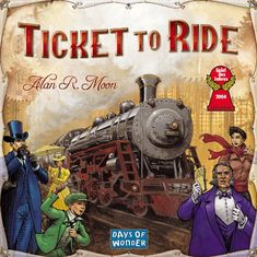 "Ticket To Ride by Days of Wonder. The Ticket To Ride Board Game is a cross-country train adventure that celebrates Fogg's impetuous and lucrative gamble to travel ""Around the World in 80 Days"" by proposing a new wager. Family Board Games, Board Games For Kids, Kids Board, Br Games, Games To Play, Playing Games, 1 Million Dollar, Ticket To Ride, Ride 2"