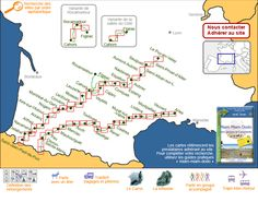 Accommodation on the Camino de Santiago (step cottages, guest houses, hotels) - General map of GR 65
