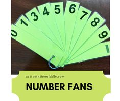 Number fans are a cheap, easy way to do formative assessment with your class. You can quickly scan the room and find out how well your students understand. Perfect for any middle school teacher and… More