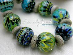 LONELYBEAD - handmade lampwork 19 glass bead SRA - Earth Angel - Set | eBay