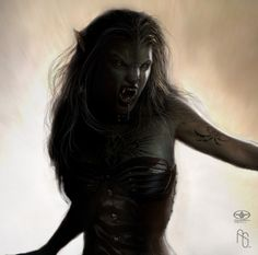 Werewolf 4 detail by aaronsimscompany.deviantart.com on @deviantART