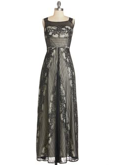 Bountiful Beauty Dress. From your coiffed hair to your elegant footsteps, this evening you feel simply poised as you enter tonights opulent party in this lace maxi dress! #black #prom #modcloth
