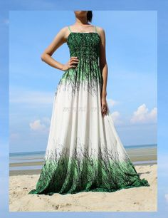 Green Maxi Dress - Bridesmaid Dress Plus Size Prom Long Evening Beach Party White Chiffon Women on Etsy, $55.00
