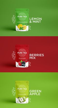 Brand and Packaging Design for Colombian Tea Drink Design Agency: Monogram Co. Brand / Project Name: Pure Tea Location: Colombia Category: World Brand & Packaging Design Society drink design Brand and Packaging Design for Colombian Tea Drink Packaging Snack, Pouch Packaging, Juice Packaging, Food Packaging Design, Packaging Design Inspiration, Brand Packaging, Branding Design, Design Agency, Corporate Design