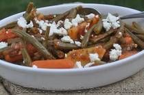 Fassolakia Lathera...Green Bean Casserole with Olive Oil and Tomatoes...Lenten…