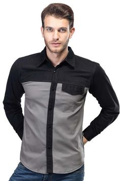 Cotton Shirt Light Grey