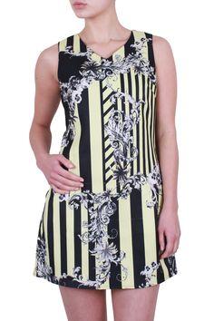 Baroque Shift Dress - S