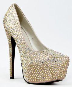 PENELOPE-2 by RED KISS Crystal Rhinestone Jewel Embellished Platform High  Heel Stiletto Party Pump 1b98551933
