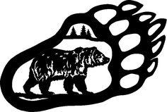Bear Paw Print Stencil | Bear paw art