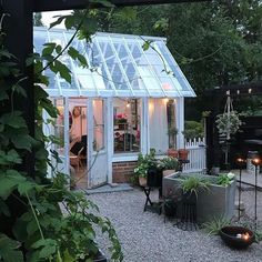 Shed Plans Against House Greenhouse Shed, Conservatory Garden, Shed Plans, Cottage Style, Curb Appeal, Interior And Exterior, Outdoor Living, Home And Garden, Backyard