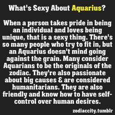 ZODIAC/ASTROLOGY : WHATS SEXY ABOUT AQUARIUS
