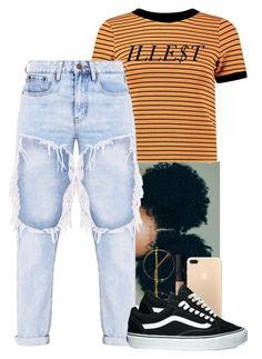 """""""Say Sum"""" by shawtyhilfiger ❤ liked on Polyvore featuring Boohoo, Retrò, NARS Cosmetics and Vans"""