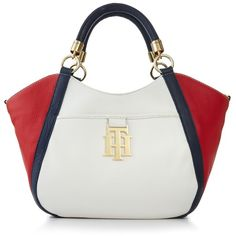 Tommy Hilfiger TH Monogrammed Leather Shopper Leather Purses, Leather Handbags, Leather Bag, Stylish Handbags, Hobo Handbags, Tommy Hilfiger Handbags, Hand Bags 2017, Shopper Tote, Satchel