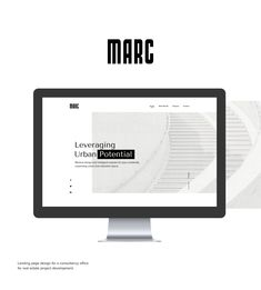 "Check out my @Behance project: ""Marc landing page"" https://www.behance.net/gallery/60797135/Marc-landing-page"