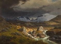 Hans Gude (1825-1903): Fra Sognefjell mot Skagastølstindene, 1844