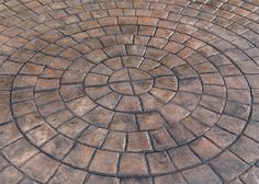 Stamped Concrete | Radial Stamp | Decorative Concrete - CD