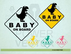 Funny baby on board dinosaur car sign decal sign by powervector dinosaur silhouette, phone icon Dinosaur Silhouette, Car Signs, Phone Background Patterns, Phone Icon, Healthy Living Magazine, Letter Size Paper, Cat People, Funny Babies, Vector Design