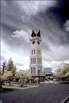Jam Gadang (Big Clock) is a city landmark located in Bukit Tinggi, West Sumatera.   Taken by Kiat (2007).