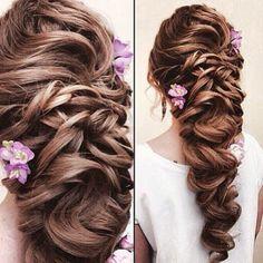 Loving this for a beautiful bride #braid #hair #bridal