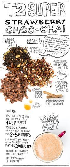 Chai Creations   T2 Tea - Mobile Iced Tea Recipes, Coffee Recipes, Raw Food Recipes, Healthy Recipes, Tea And Books, Light Recipes, High Tea, Yummy Drinks, Drinking Tea