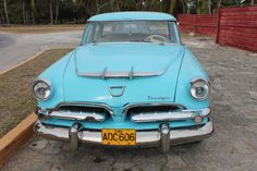 Cuba  Vintage Turquoise 1950's Dodge Car  by BluebellandtheFox