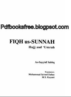Fiqh us-Sunnah By As-Sayyid Sabiq | Free Pdf Books