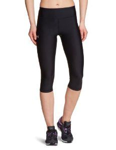 """Women's UA Authentic 17"""" Capri Bottoms by Under Armour by Under Armour. $37.98. Front seam is 8"""" long.. Waistband is 3"""" wide with 1/2"""" covered elastic at top.. Key pocket at back left is 2-3/4"""" by 2"""".. Back seam is 9"""" long.. 85% nylon, 15% elastane Country of origin: Imported Care: Machine wash Cold. Use non-chlorine bleach if needed. Tumble dry Low.. Soft, slightly sueded technical fabric delivers superior support without any restriction. Super-stretchy constr..."""