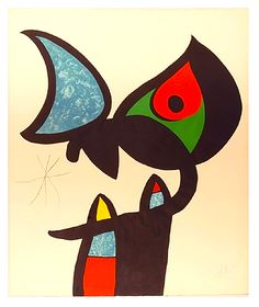 Joan Miró, Plate III - Serie Espriu, 1975 on ArtStack #joan-miro #art