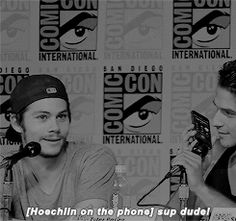 Sometimes I think Hoechlin expresses his giant man crush more than Dylan does bbbuuuttttt then I see stuff like this Teen Wolf Boys, Teen Wolf Cast, Victoria Moroles, Jill Wagner, Only Teen, Teenage Werewolf, Teen Wolf Quotes, Dylan Sprayberry, Cody Christian