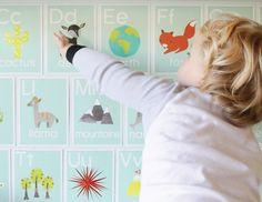Adorable animal alphabet cards.