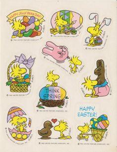 Vintage RARE Hard to Find Snoopy Easter Sticker Sheet by Hallmark | eBay