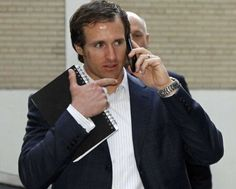 Drew Brees on the phone with me