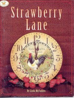 Linda McFadden Strawberry Lane Decorative Painting Books at Discount Prices Decorative Painting Projects, Tole Painting Patterns, One Stroke Painting, Painting & Drawing, Painted Books, Hand Painted, Book Crafts, Craft Books, Inspirations Magazine