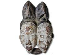 Das Angebot bezieht sich auf eine edle Doppelgesichts Maske der Punu. Die Punu…