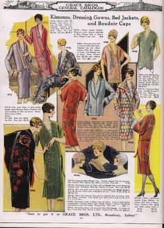 1920s Vintage Clothes Kimonos, dressing gowns, bed jackets and boudoir caps inspired by Asian fashions.