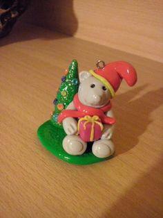 Fimo Weihnachtsbär