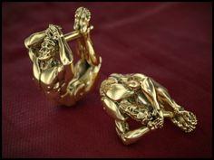 "Earrings ""the athletes""/Серьги ""атлеты"" #yellowgold #gold #earrings #jewelry #jewellery #jewelryformen #accessories #аксессуары#formen #атлет #beards #beard #beardlife #борода #бородач #украшениядлямужчин #украшения #серьги #серьгидлямужчин #жёлтоезолото #золото #men #mensjewelry #jewelrydesigner #menstyle #menstuff #jewelrygram #piercings #franguebyzverev"