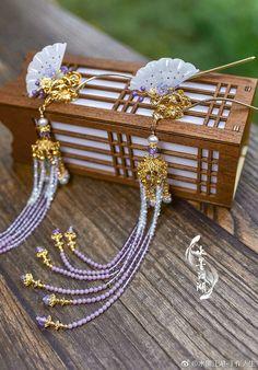 Cute Jewelry, Hair Jewelry, Body Jewelry, Hair Accessories For Women, Jewelry Accessories, Fashion Accessories, Asian Hair Pin, Traditional Fashion, Ancient Jewelry