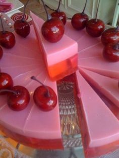 A pink SOAP cake